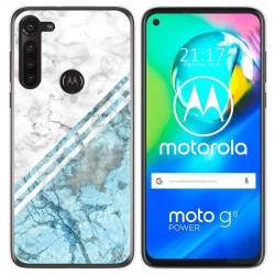 Funda Gel Tpu para Motorola Moto G8 Power diseño Mármol 02 Dibujos