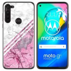 Funda Gel Tpu para Motorola Moto G8 Power diseño Mármol 03 Dibujos