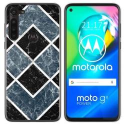 Funda Gel Tpu para Motorola Moto G8 Power diseño Mármol 06 Dibujos