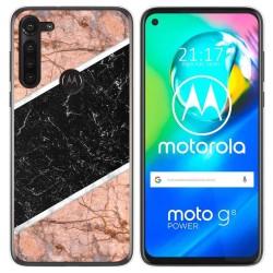 Funda Gel Tpu para Motorola Moto G8 Power diseño Mármol 07 Dibujos