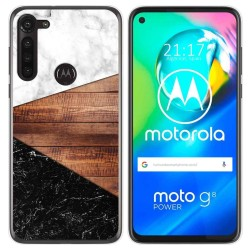 Funda Gel Tpu para Motorola Moto G8 Power diseño Mármol 11 Dibujos