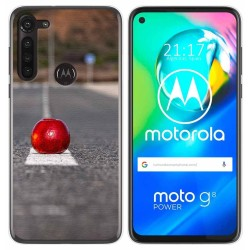 Funda Gel Tpu para Motorola Moto G8 Power diseño Apple Dibujos