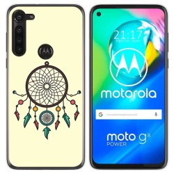 Funda Gel Tpu para Motorola Moto G8 Power diseño Atrapasueños Dibujos