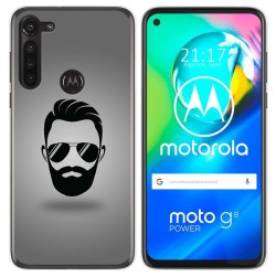 Funda Gel Tpu para Motorola Moto G8 Power diseño Barba Dibujos