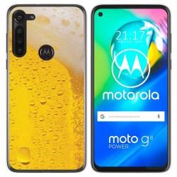Funda Gel Tpu para Motorola Moto G8 Power diseño Cerveza Dibujos
