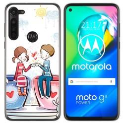Funda Gel Tpu para Motorola Moto G8 Power diseño Café Dibujos