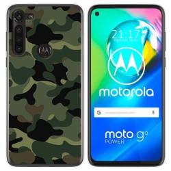 Funda Gel Tpu para Motorola Moto G8 Power diseño Camuflaje Dibujos