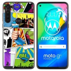Funda Gel Tpu para Motorola Moto G8 Power diseño Comic Dibujos