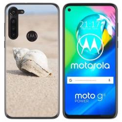 Funda Gel Tpu para Motorola Moto G8 Power diseño Concha Dibujos