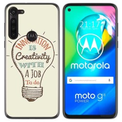 Funda Gel Tpu para Motorola Moto G8 Power diseño Creativity Dibujos