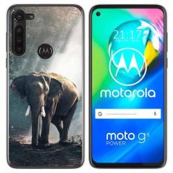 Funda Gel Tpu para Motorola Moto G8 Power diseño Elefante Dibujos