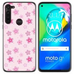Funda Gel Tpu para Motorola Moto G8 Power diseño Flores Dibujos