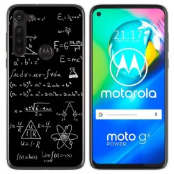 Funda Gel Tpu para Motorola Moto G8 Power diseño Formulas Dibujos