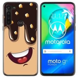 Funda Gel Tpu para Motorola Moto G8 Power diseño Helado Chocolate Dibujos