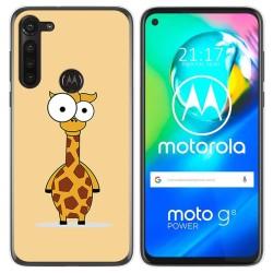 Funda Gel Tpu para Motorola Moto G8 Power diseño Jirafa Dibujos