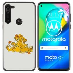 Funda Gel Tpu para Motorola Moto G8 Power diseño Leones Dibujos