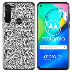 Funda Gel Tpu para Motorola Moto G8 Power diseño Letras Dibujos