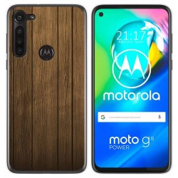 Funda Gel Tpu para Motorola Moto G8 Power diseño Madera Dibujos
