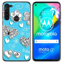 Funda Gel Tpu para Motorola Moto G8 Power diseño Mariposas Dibujos