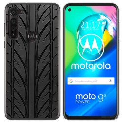 Funda Gel Tpu para Motorola Moto G8 Power diseño Neumatico Dibujos