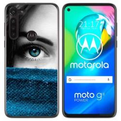 Funda Gel Tpu para Motorola Moto G8 Power diseño Ojo Dibujos