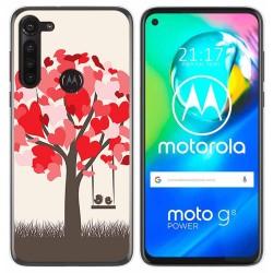 Funda Gel Tpu para Motorola Moto G8 Power diseño Pajaritos Dibujos