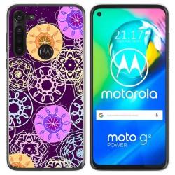 Funda Gel Tpu para Motorola Moto G8 Power diseño Radial Dibujos