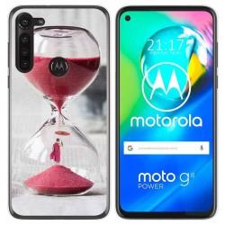 Funda Gel Tpu para Motorola Moto G8 Power diseño Reloj Dibujos