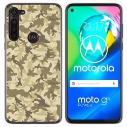 Funda Gel Tpu para Motorola Moto G8 Power diseño Sand Camuflaje Dibujos