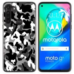 Funda Gel Tpu para Motorola Moto G8 Power diseño Snow Camuflaje Dibujos
