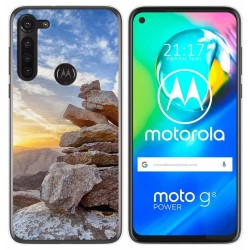 Funda Gel Tpu para Motorola Moto G8 Power diseño Sunset Dibujos