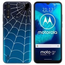 Funda Gel Transparente para Motorola Moto G8 Power Lite diseño Araña Dibujos