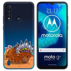 Funda Gel Transparente para Motorola Moto G8 Power Lite diseño Bufalo Dibujos