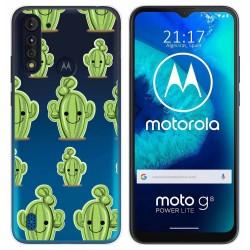 Funda Gel Transparente para Motorola Moto G8 Power Lite diseño Cactus Dibujos