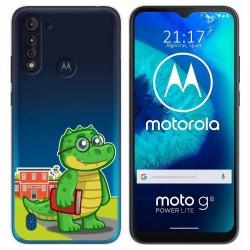 Funda Gel Transparente para Motorola Moto G8 Power Lite diseño Coco Dibujos