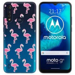 Funda Gel Transparente para Motorola Moto G8 Power Lite diseño Flamenco Dibujos