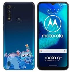 Funda Gel Transparente para Motorola Moto G8 Power Lite diseño Hipo Dibujos
