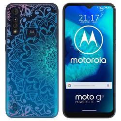 Funda Gel Transparente para Motorola Moto G8 Power Lite diseño Mandala Dibujos