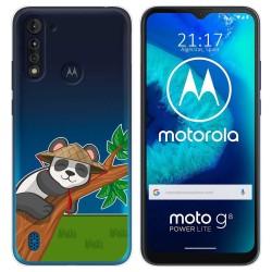 Funda Gel Transparente para Motorola Moto G8 Power Lite diseño Panda Dibujos