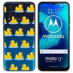 Funda Gel Transparente para Motorola Moto G8 Power Lite diseño Pato Dibujos
