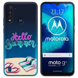 Funda Gel Transparente para Motorola Moto G8 Power Lite diseño Summer Dibujos