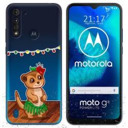 Funda Gel Transparente para Motorola Moto G8 Power Lite diseño Suricata Dibujos