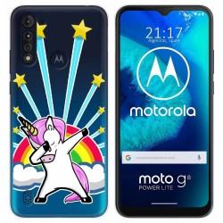 Funda Gel Transparente para Motorola Moto G8 Power Lite diseño Unicornio Dibujos