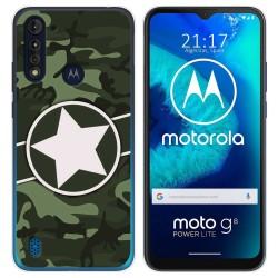 Funda Gel Tpu para Motorola Moto G8 Power Lite diseño Camuflaje 01 Dibujos