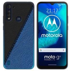 Funda Gel Tpu para Motorola Moto G8 Power Lite diseño Cuero 02 Dibujos