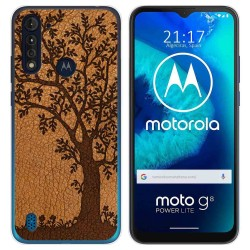 Funda Gel Tpu para Motorola Moto G8 Power Lite diseño Cuero 03 Dibujos