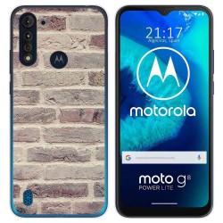 Funda Gel Tpu para Motorola Moto G8 Power Lite diseño Ladrillo 01 Dibujos
