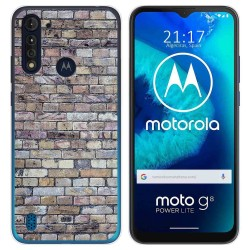 Funda Gel Tpu para Motorola Moto G8 Power Lite diseño Ladrillo 02 Dibujos