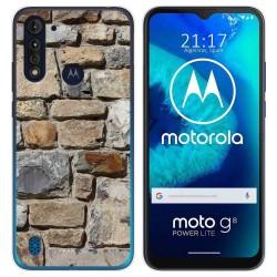 Funda Gel Tpu para Motorola Moto G8 Power Lite diseño Ladrillo 03 Dibujos