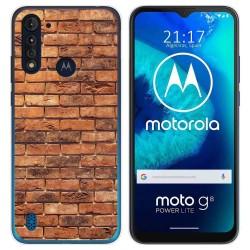 Funda Gel Tpu para Motorola Moto G8 Power Lite diseño Ladrillo 04 Dibujos